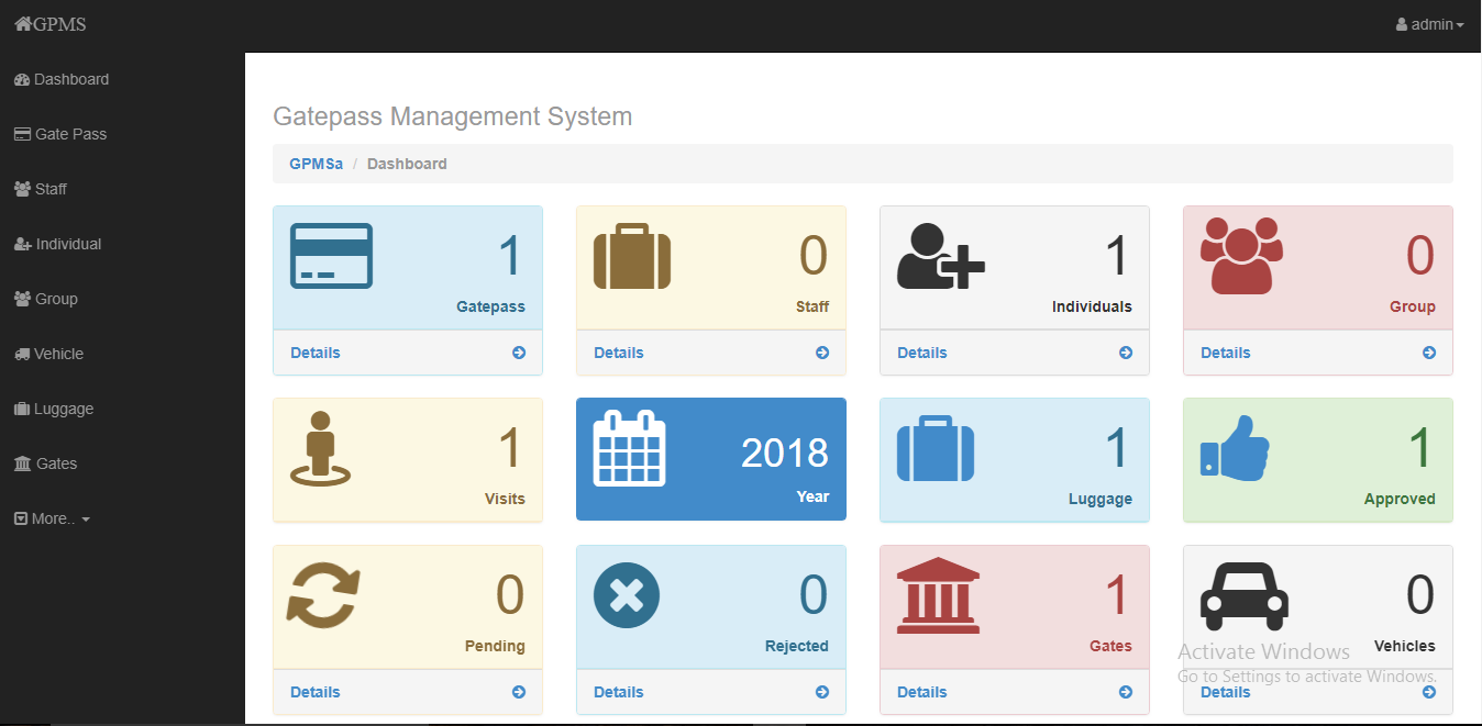 Online Gate Pass Management System | Free Source Code