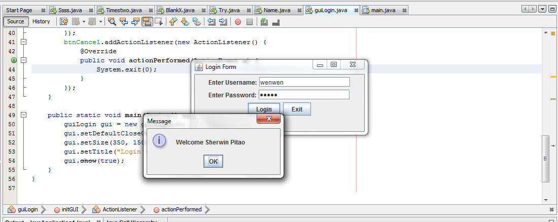 Login System in Java using MS Access Database | Free Source