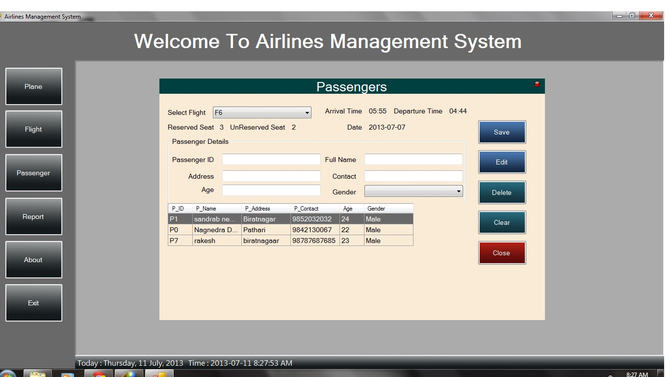 airline reservation system project in html free download