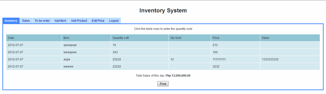 Simple Inventory System Using Php Mysql Free Source Code