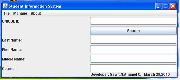 Basic Student Information System | Free Source Code & Tutorials
