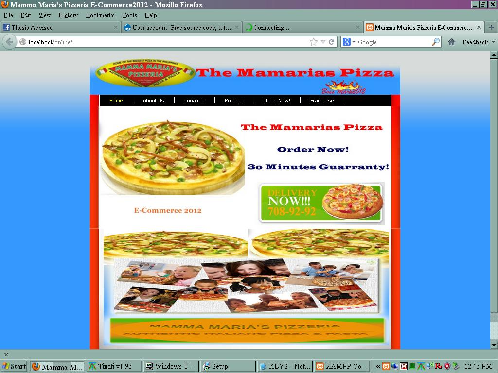 Online Ordering System EDITED (Mamarias Pizza) | Free Source Code