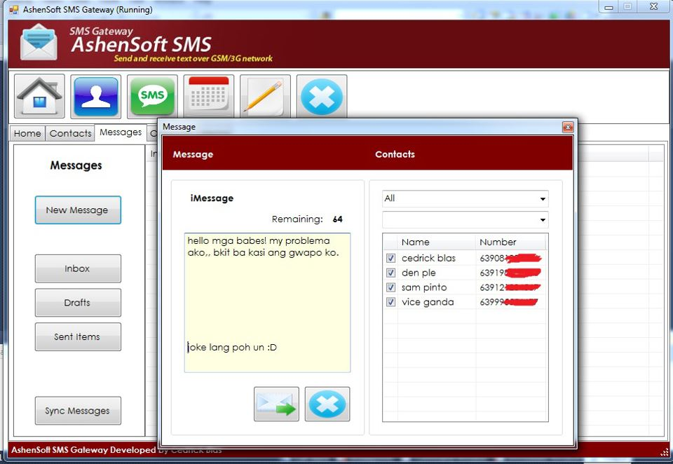 sending sms using php Don't forget that the main aim of this tutorial is to be able to send sms from our laravel application so we are just going to build a very simple form that takes in the phone number of a user and send sms to him/her quickly create a controller that will handle the sms action for us php artisan make:controller.