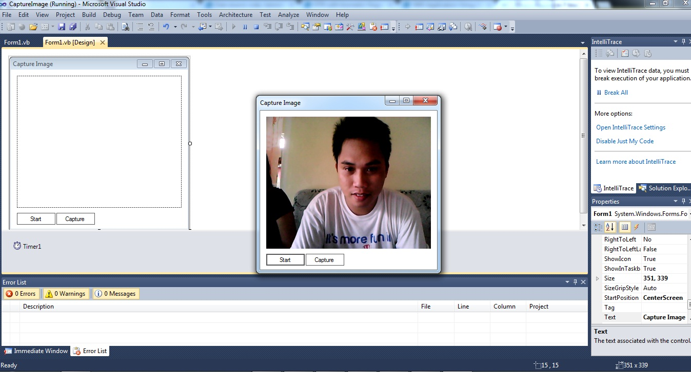 Capture upload image from your webcam vb net free source for Image capture