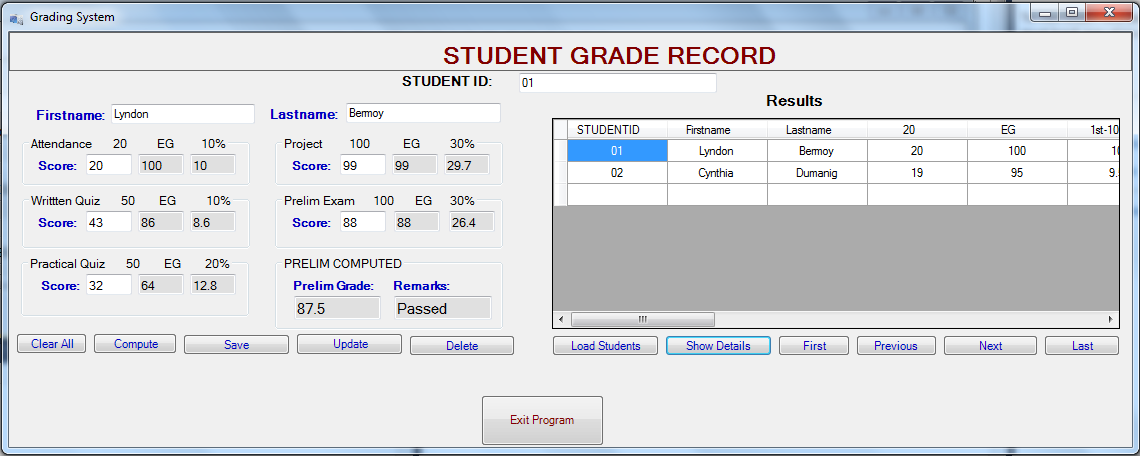 Simple Grading System Using C Free Source Code