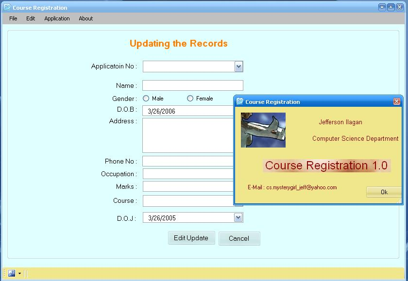 Course Registration Free Source Code Tutorials And Articles