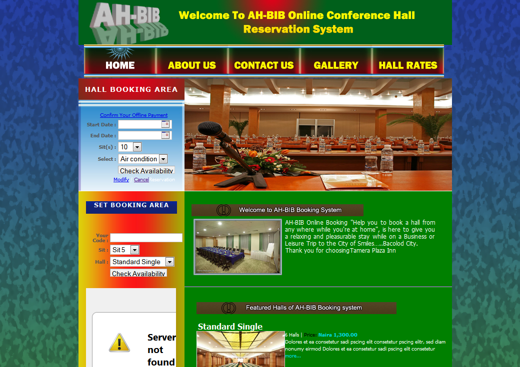 Online Hall Reservation System using PHP | Free Source Code