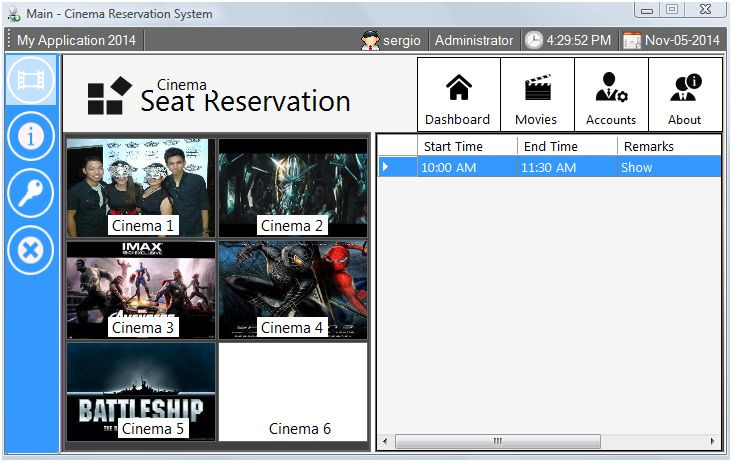Cinema Reservation System Using MS Access | Free Source Code