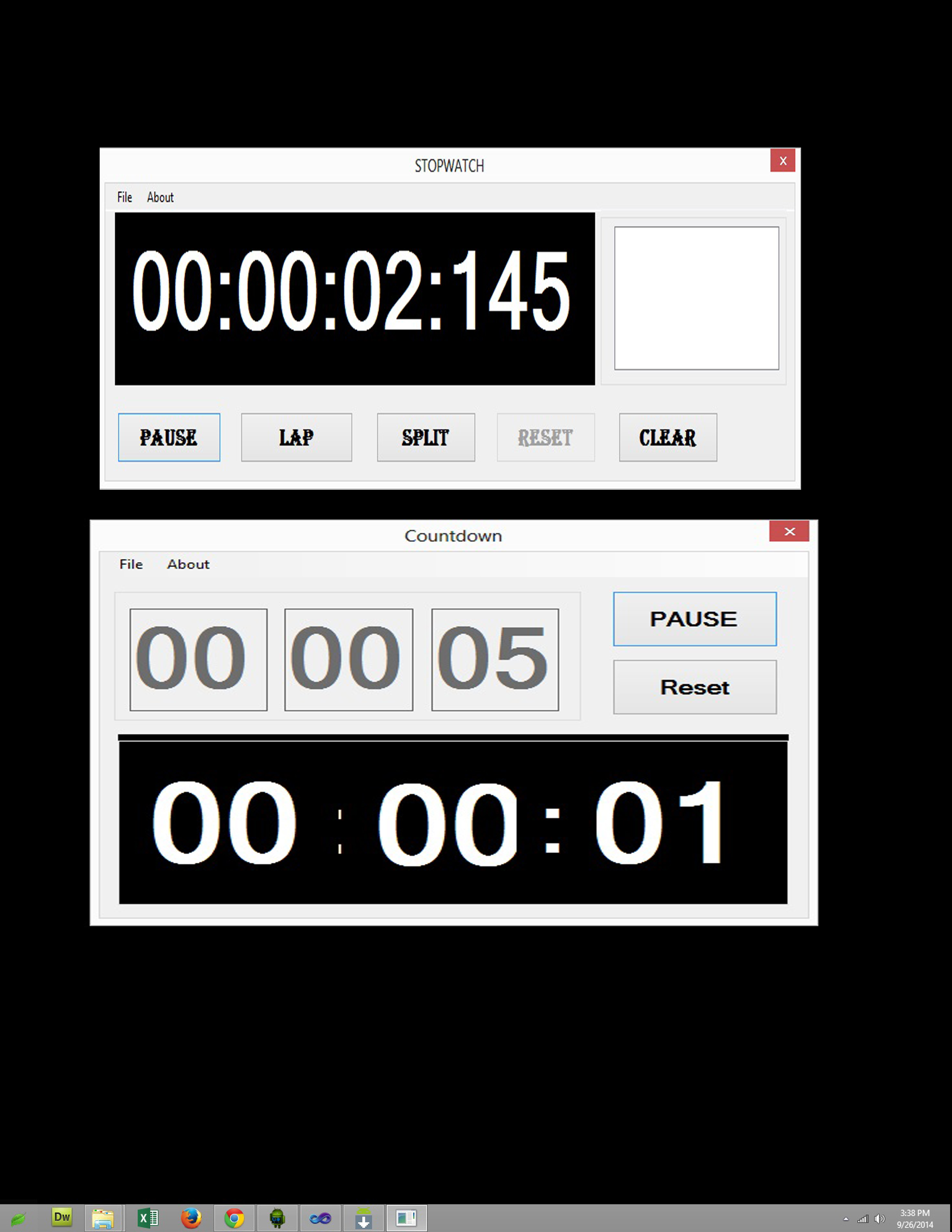 Stopwatch and Countdown System | Free source code, tutorials and ...