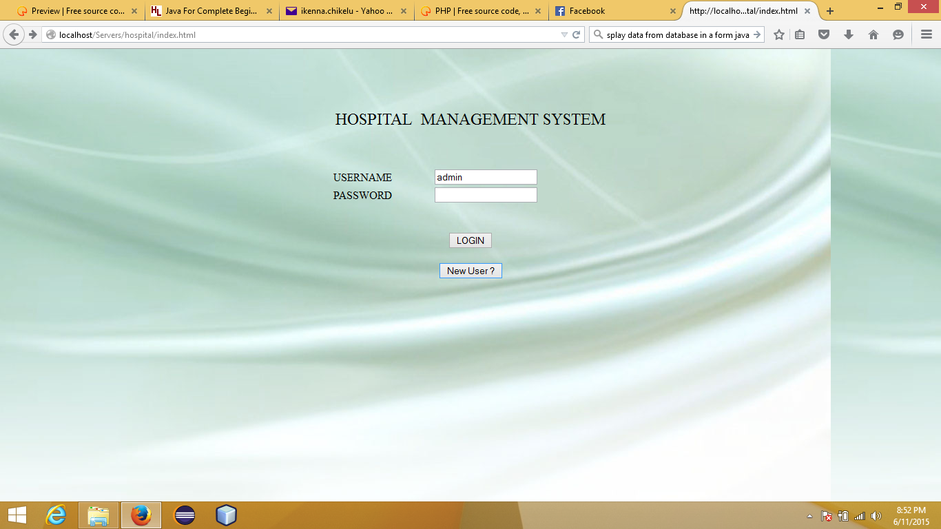 Hospital Management System Free Source Code Tutorials