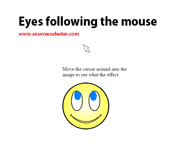 Eyes following the mouse using Javascript | Free Source Code & Tutorials