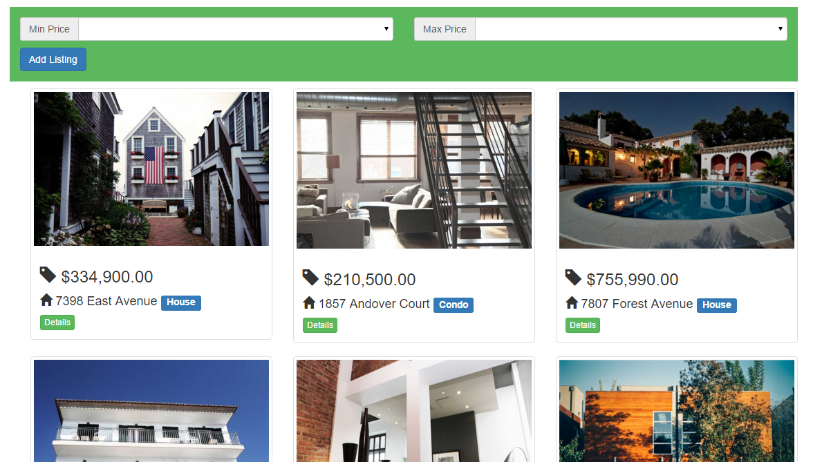 Real Estate Website using AngularJS | Free Source Code