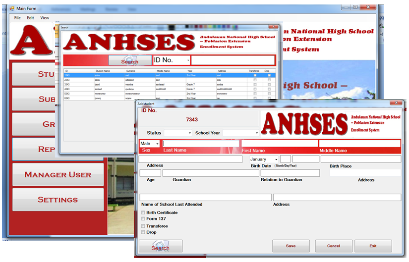 Anhs Enrollment System Free Source Code Amp Tutorials