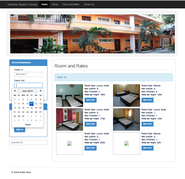 Justine's Guest House Online Reservation System | Free Source Code