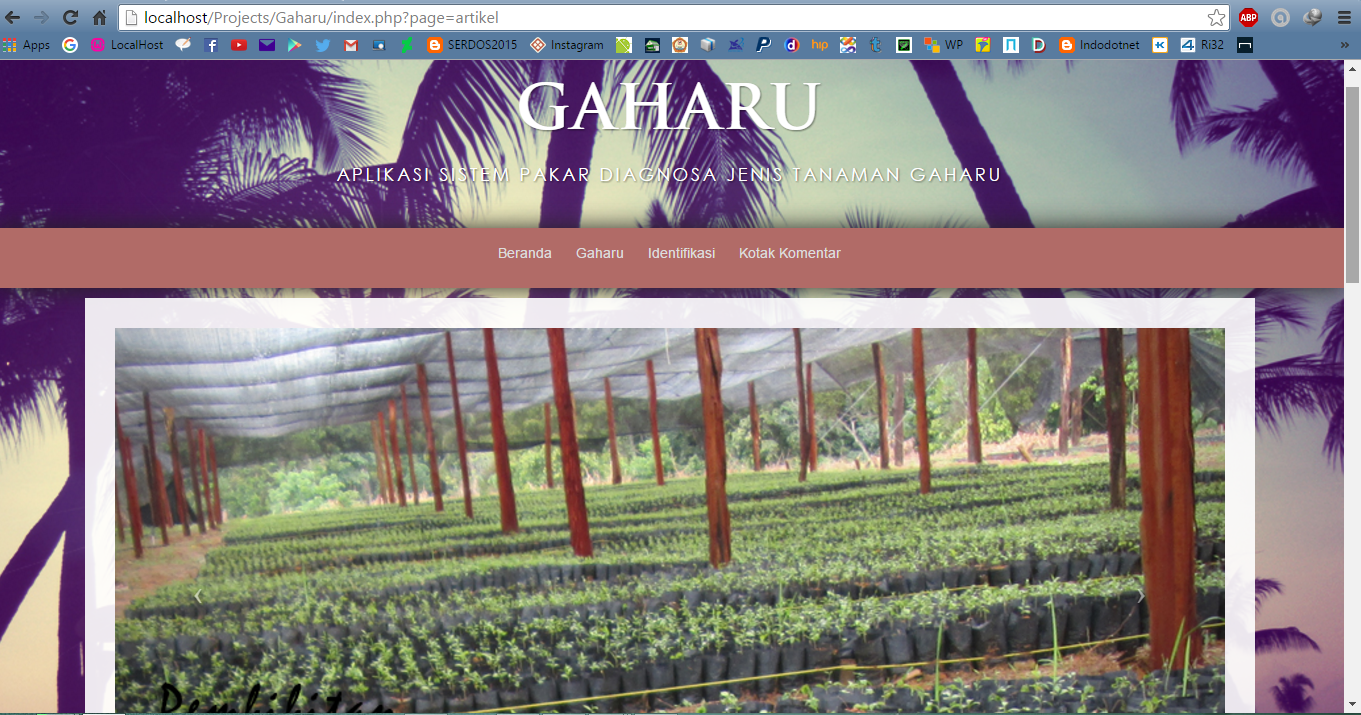 Expert System For Identifying Kind Of Gaharu | Free Source Code