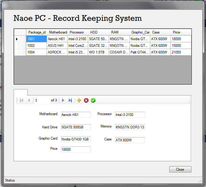 Record Keeping System Vb Net 2010 Free Source Code