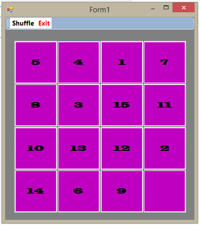 Number Puzzle Game in Visual Basic \ Vb,Net | Free Source