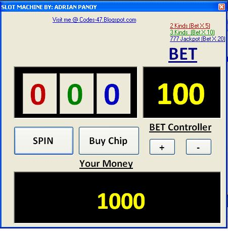 Simple slot machine php