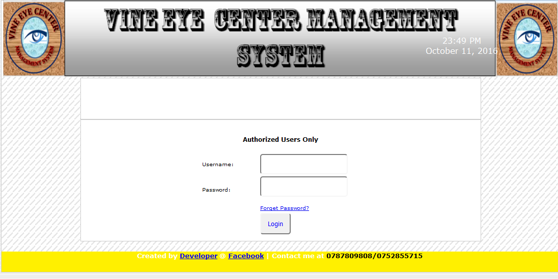 Eye Clinic Management System Free Source Code Tutorials