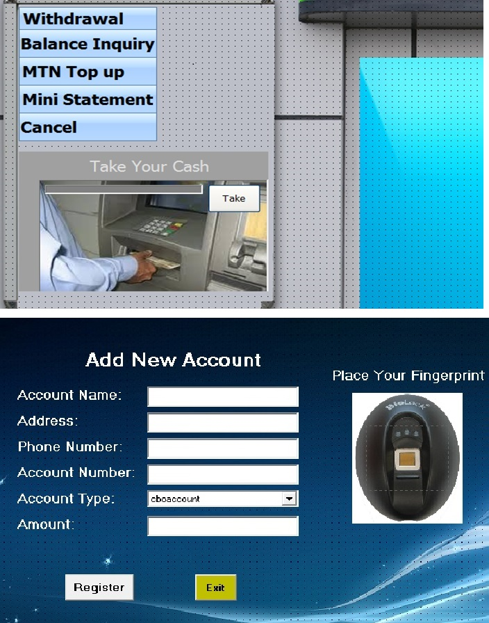 ATM Security Using Fingerprint Recognition and GSM An