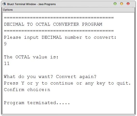 Decimal to Octal Converter in Java (Console-Based) | Free