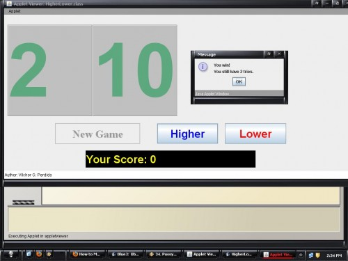Higher-Lower Game using Java (GUI-Based) | Free source ...