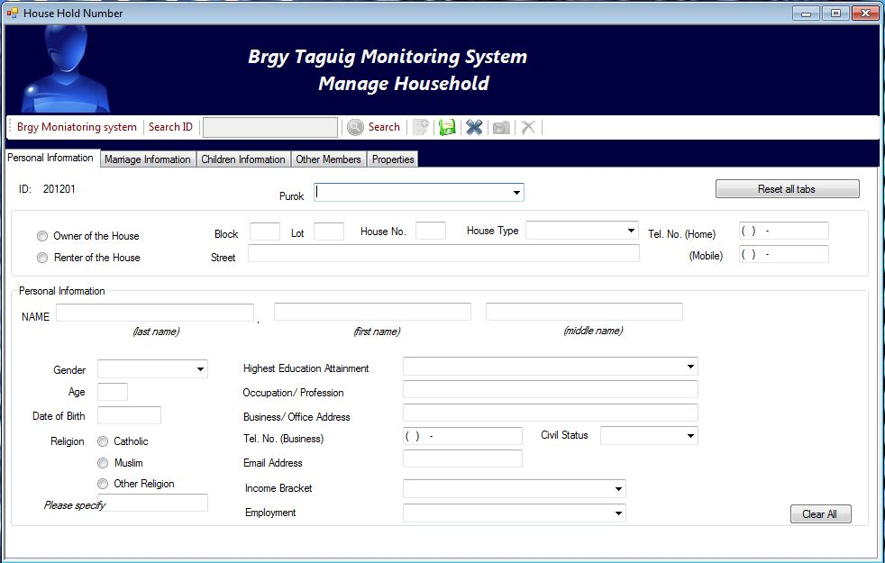 thesis of barangay profiling system