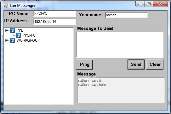 LAN Chat With Spoken Messages, No Winsock! | Free Source