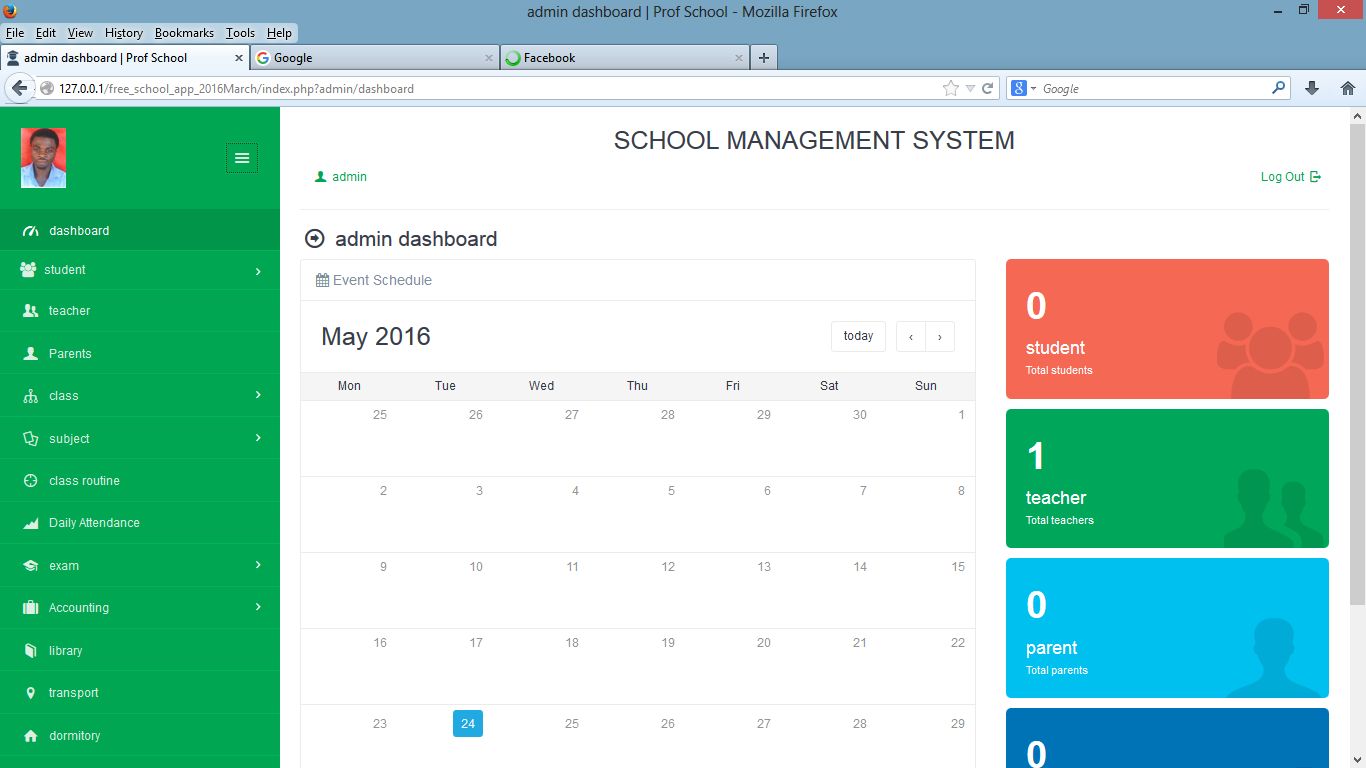 School Management System Free Source Code Tutorials And
