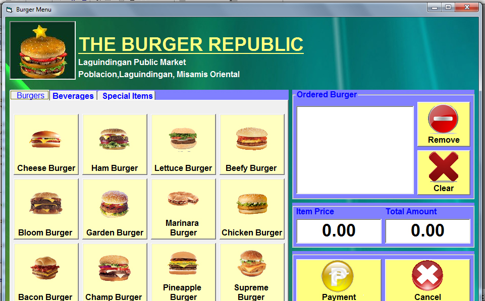 Burger Ordering System | Free Source Code & Tutorials