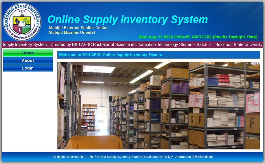 iict supplies inventory system Inventory systems are tracking systems that inform you of the amount of raw materials, supplies or final products you have readily available the inventory system is.