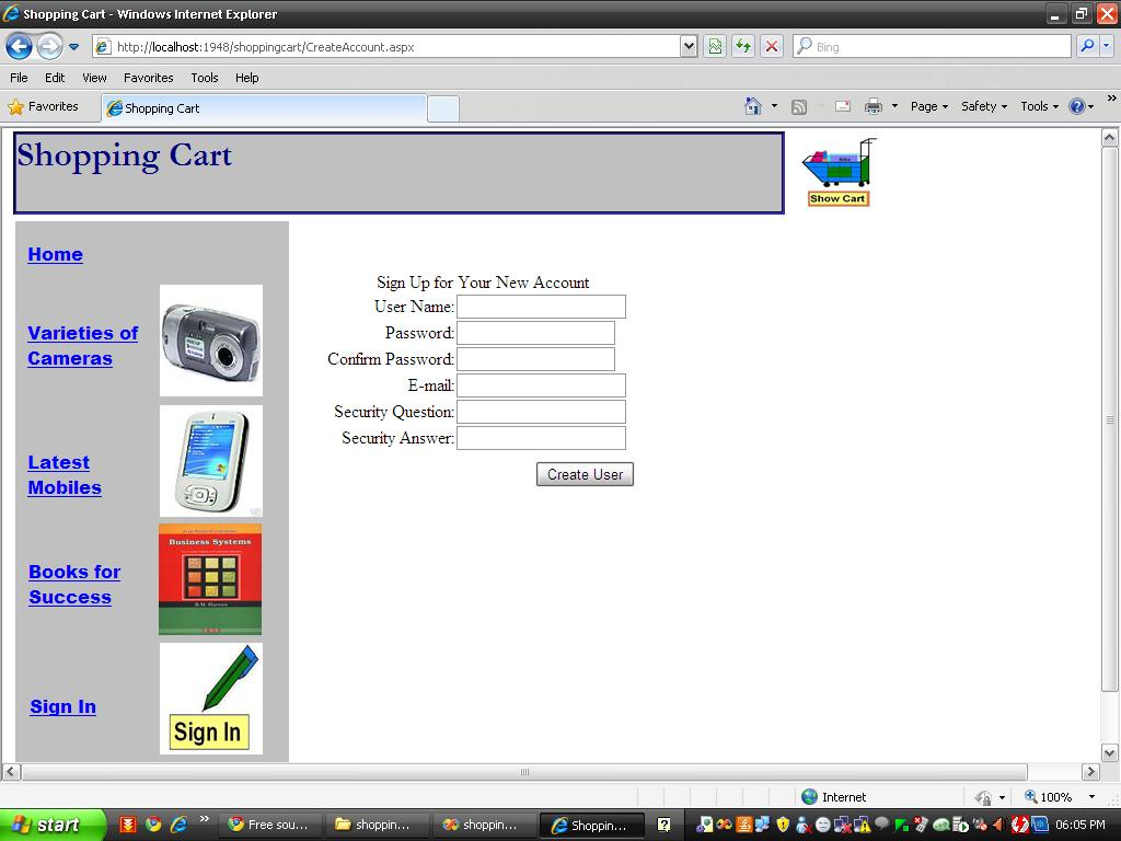 online shopping cart project in php free download