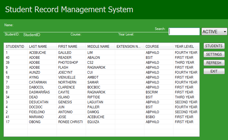 student record system Student record and information system is a project built using java language with mysql it stores information about students, subjects, enrollment details, grades of students the system allows easy modification of students, subjects and other details.