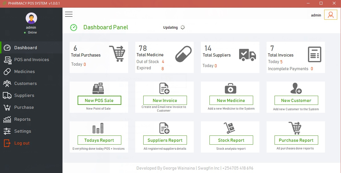 Pharmacy Chemist Pos And Invoicing Software Free Source