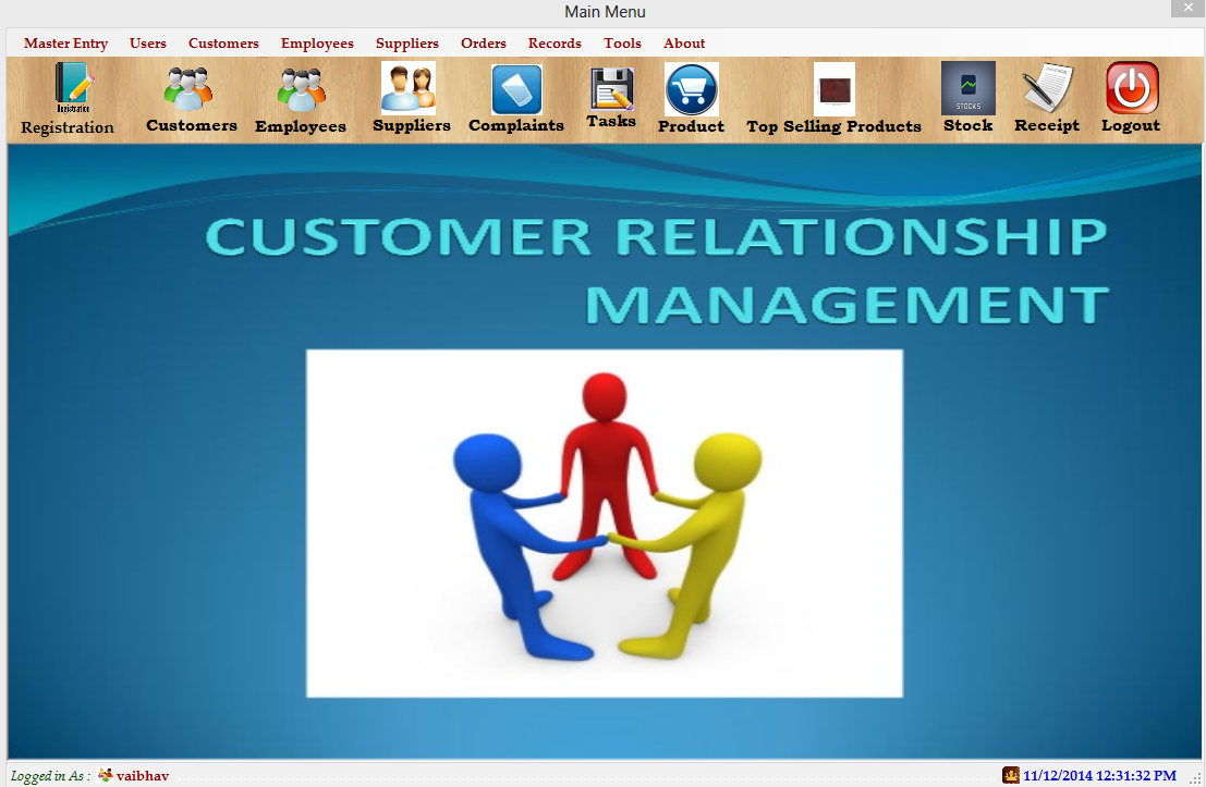 customer relationship management system project in php