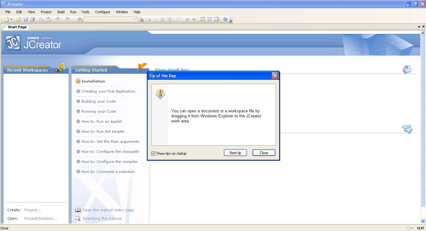 Step by step installing jcreator and connecting this java software 1 now after installing all of these requirements you will see the user interface of jcreator like the image below baditri Choice Image