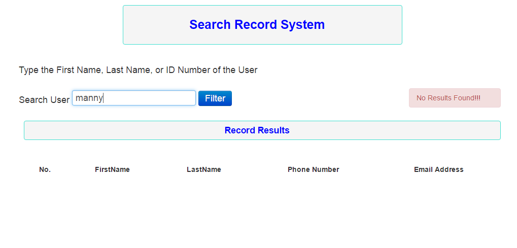Search Record System In PHP | Free Source Code & Tutorials