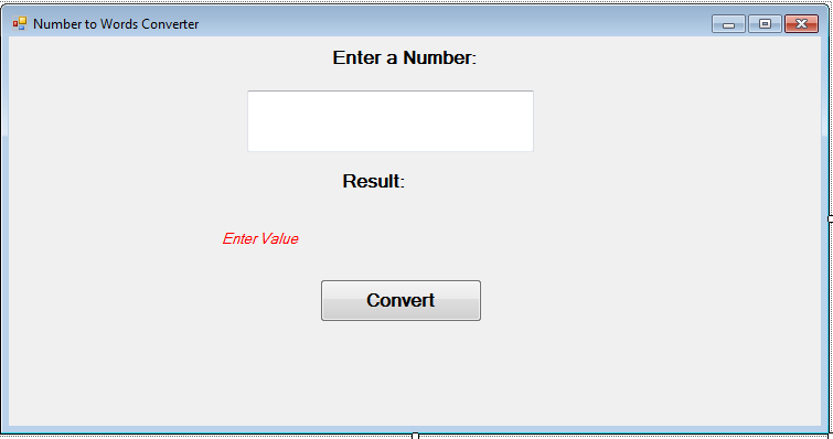 Program To Convert Number To Words In Vb