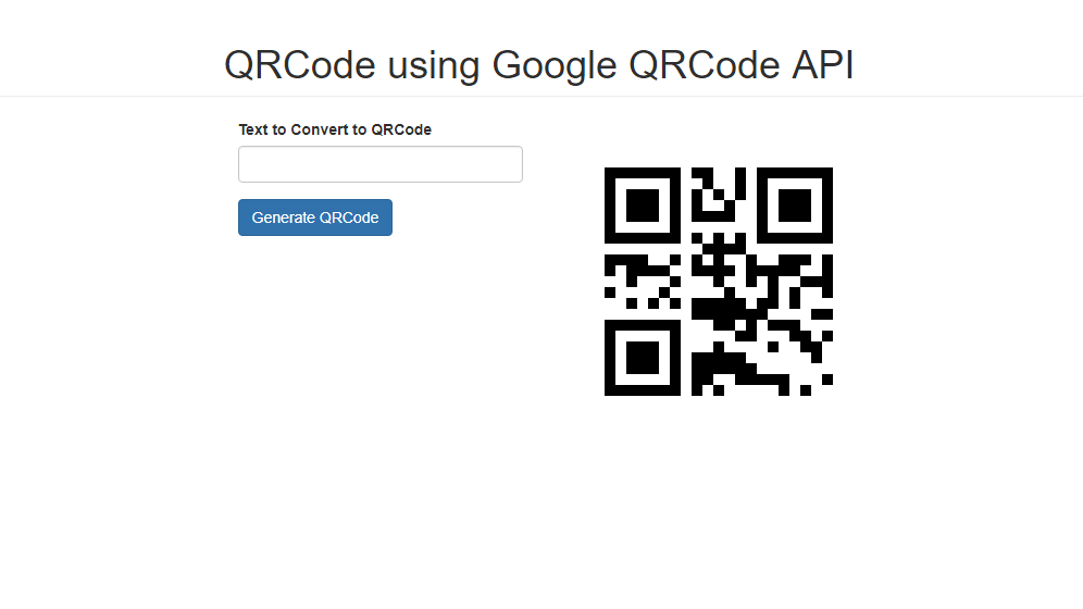 How to Create a QRCode using Google QRCode API using PHP