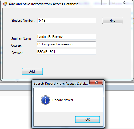 Adding and Saving Records to Access Database using VB NET | Free