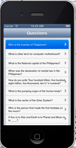 Question and Answer App - iOS 6 | Free Source Code & Tutorials