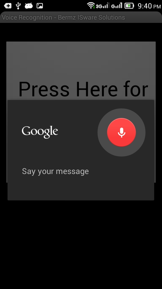 voice activated writing app