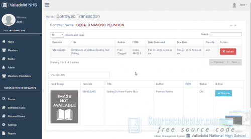 library barcode system free