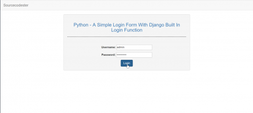 Python - A Simple Login Form With Django Build In Login Function ...