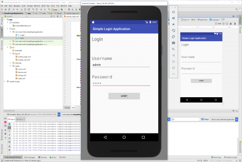 Android - Simple Login Application For Beginners   Free
