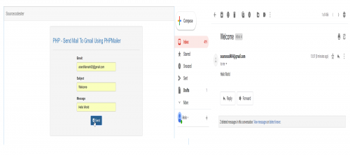 Php send mail to gmail using phpmailer free source code in this tutorial we will create a sending email using phpmailer php is a server side scripting language designed primarily for web development maxwellsz