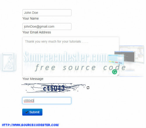 Contact Form with Captcha Confirmation using PDO in PHP | Free ...