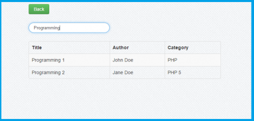 How to create search query using php mysql free source for Javascript table insertcell th