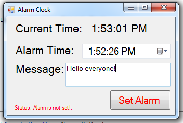 Simple Alarm Clock Using Visual Basic Net Free Source