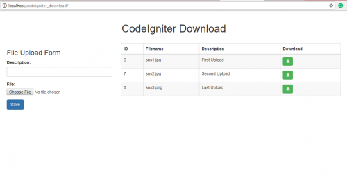 How to Download Files in CodeIgniter | Free Source Code & Tutorials